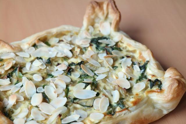 vegetarische Quiche Fenchel Spinat Feta