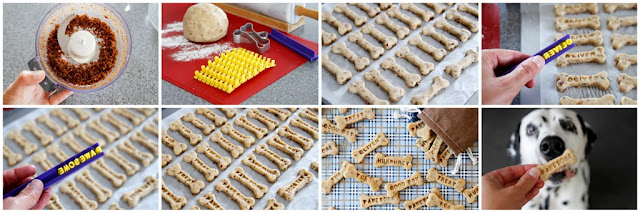 Step-by-step making homemade custom stamped dog treats
