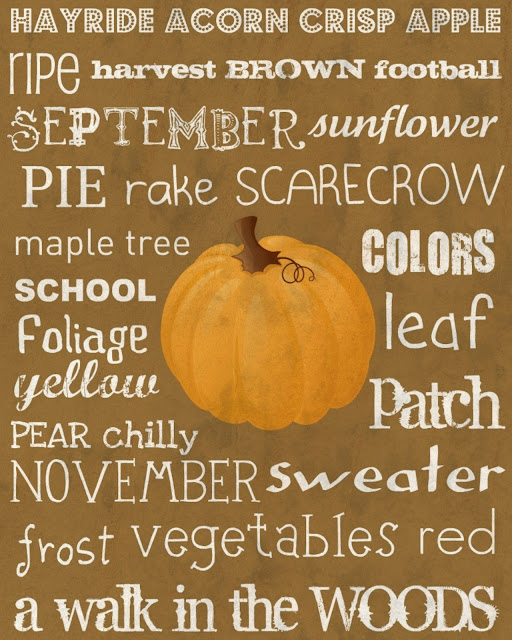 free fall printable pumpkin
