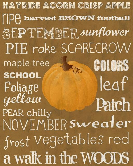 free fall printable pumpkin