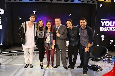Carlos Santana, Camilla Cabral, Juju Almeida (Maisa Silva), Raul e Pipocando (Crédito: Rodrigo Belentani)