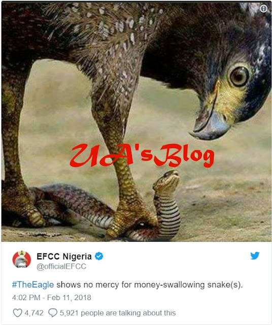 JUST IN: EFCC Goes After 'Mysterious Snake' That Swallowed JAMB's N36 Million - Commission Confirms