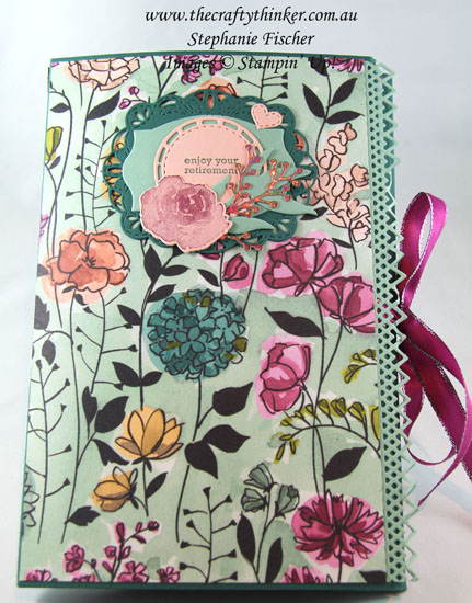 #thecraftythinker  #stampinup  #cardmaking  #minialbumtutorial  #3dproject , Ink It Stamp It Blog Hop, 3D project, Mini Album, Frosted Bouquet Framelits, Delicate Lace Edgelits, Stampin' Up Australia Demonstrator, Stephanie Fischer, Sydney NSW