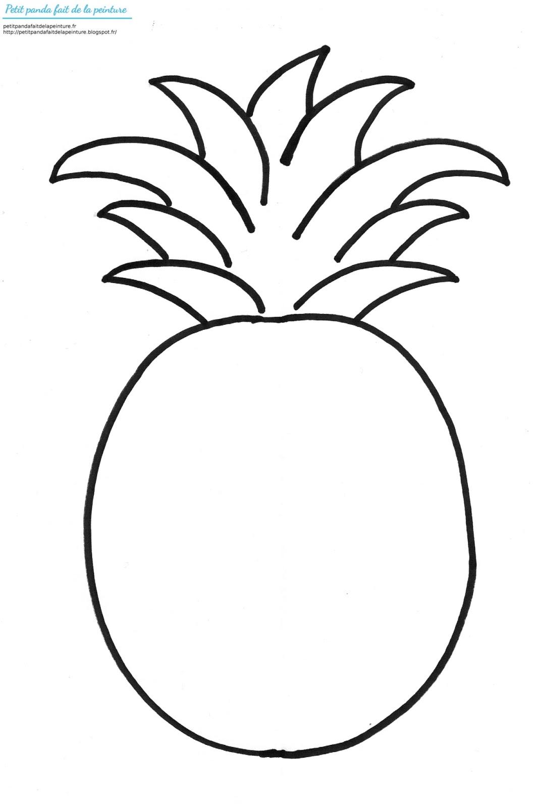 ananas dessin dessin d ananas