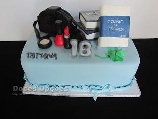 Bolo para o 18º aniversário da Tatiana
