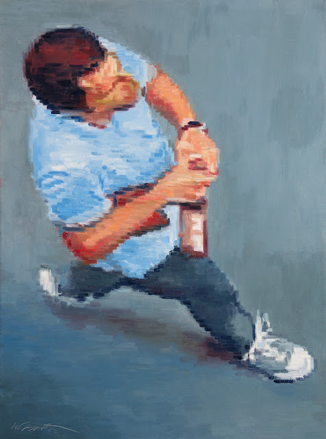 http://www.ugallery.com/oil-painting-aerial-view-of-man-opening-beer-bottle