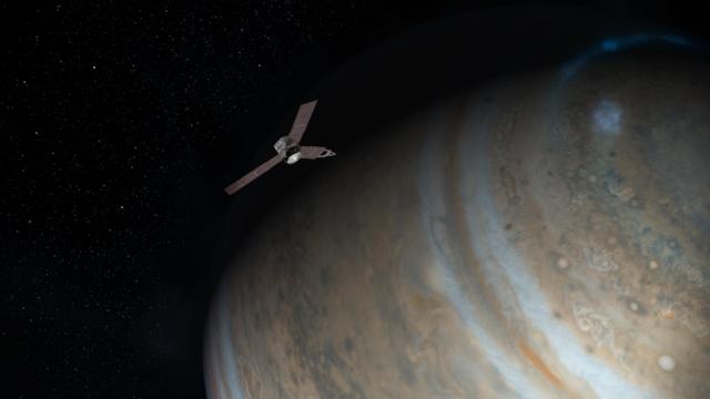 Juno above Jupiter