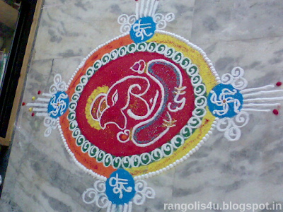Rangolis for Ganesh Festivals