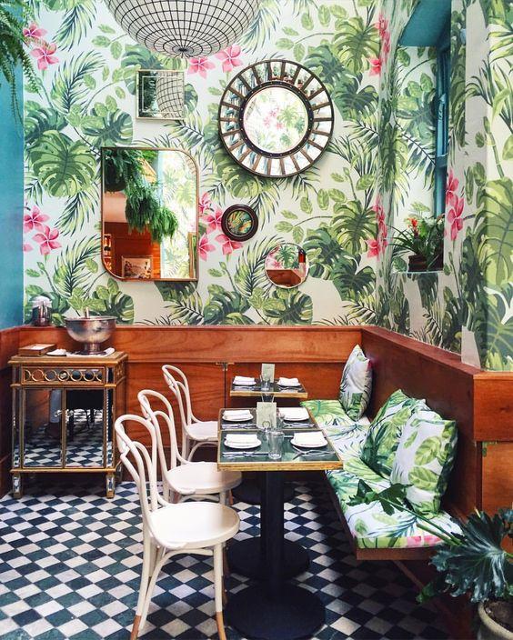 Hermanas bolena decoraci n papel pintado tropical - Papel pintado tropical ...