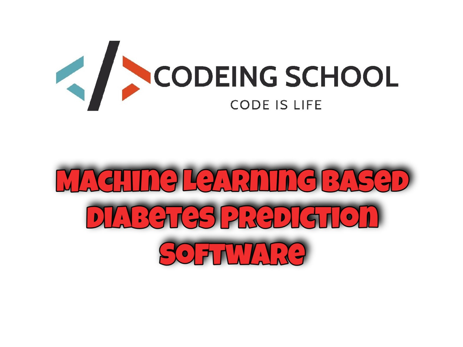 Machine Learning based Diabetes Prediction Software (with
