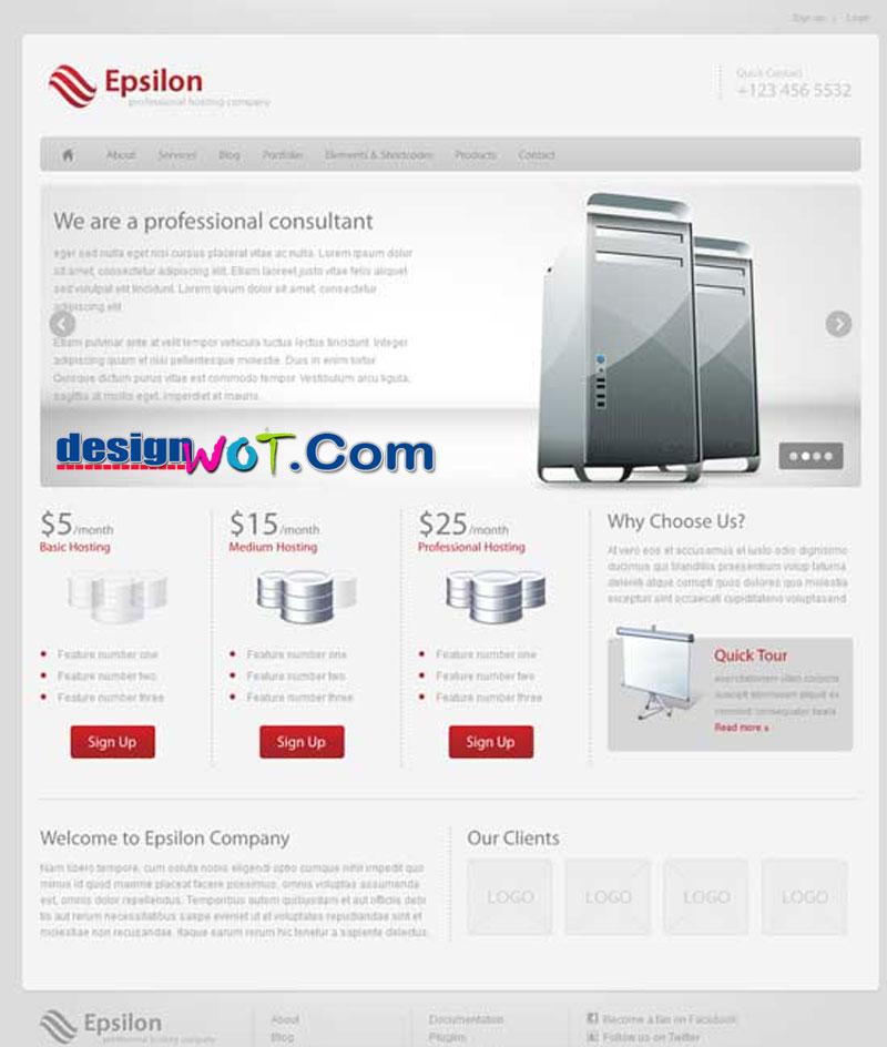 Epsilon - Hosting and Business WordPress Theme