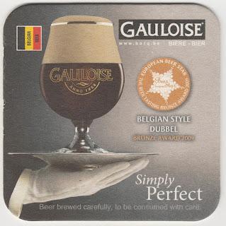 sous-bock de la biére belge la Gauloise