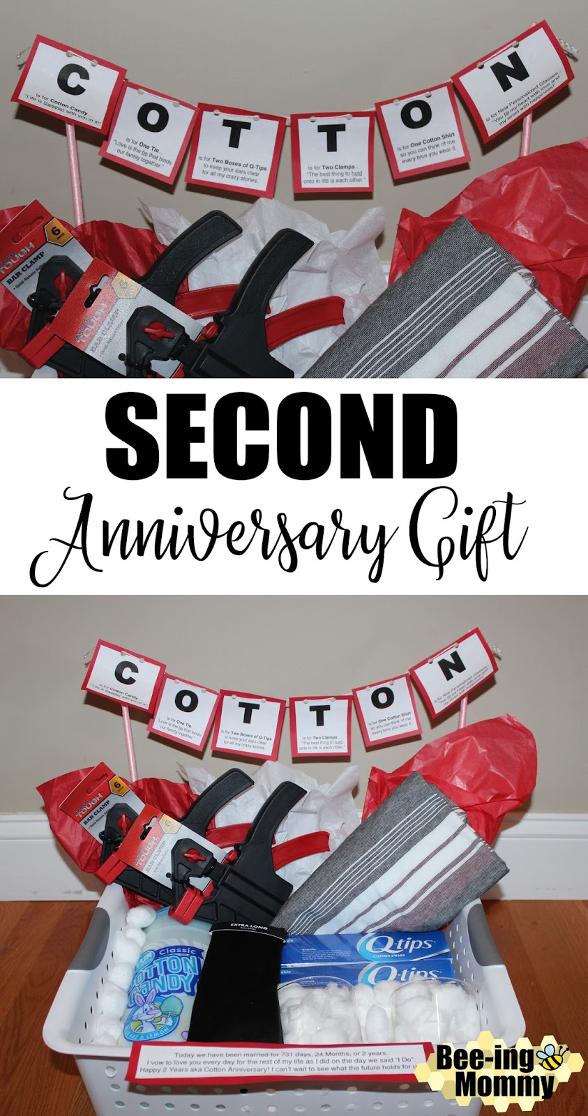 Bee Ing Mommy Blog Cotton Anniversary Gift Basket Plus Several More