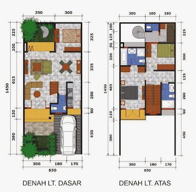 Desain Terbaru Rumah Minimalis 2 Lantai Type 45 Terupdate 2019 1