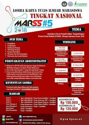 Lomba Karya Tulis Ilmiah Nasional MARSS 2018 di UNY (Univeritas Negari Yogjakarta)