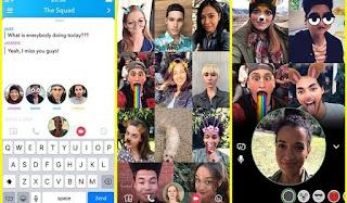 Snapchat group video call