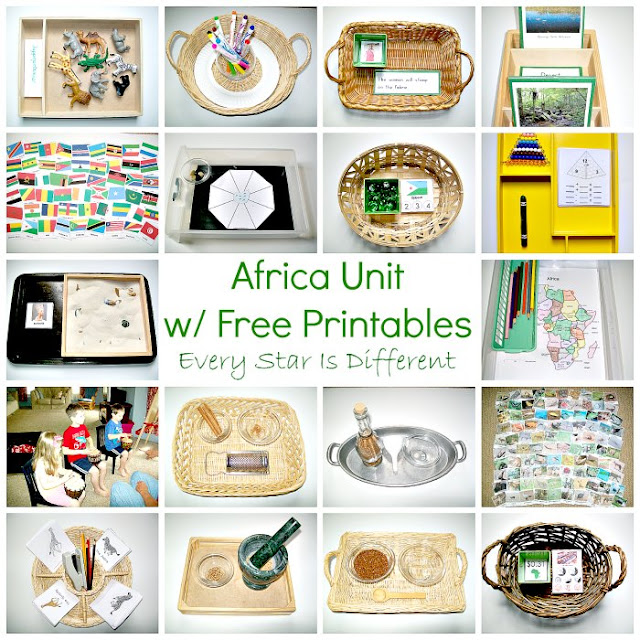 Montessori-inspired Africa Unit with Free Printables