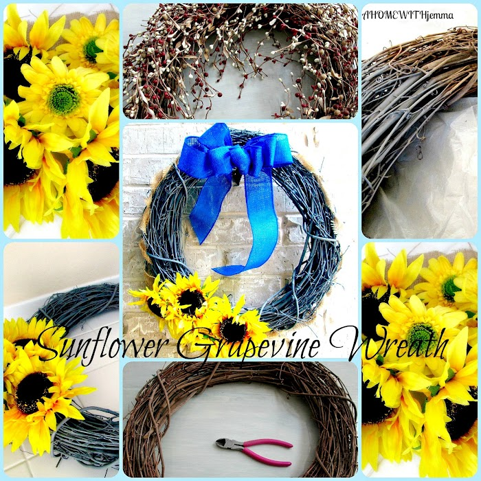 Summer Sunflower Grapevine Wreath