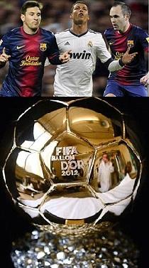 Messi vence Bola de Ouro 2012 (argentino conquista o prémio pela 4ª vez  consecutiva)  Pela 1ª vez neste século um jogador que só venceu uma Taça do  Rei foi ... 58d49aed02b72
