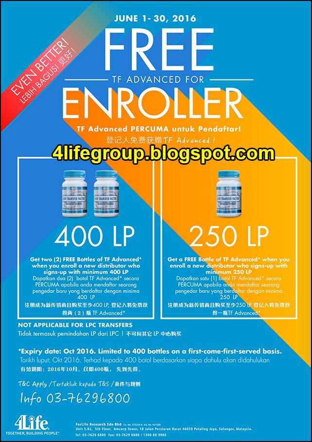 foto 4Life TF Advanced Percuma Untuk Pendaftar