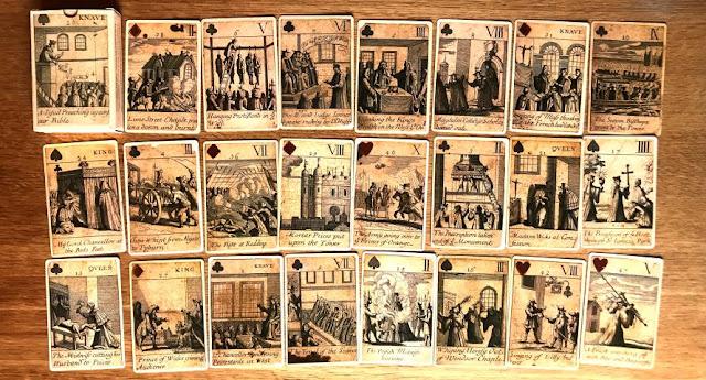 CARTE RIVOLUZIONE ISOLE BRITANNICHE XVII SECOLO (1689) NO TAROCCHI
