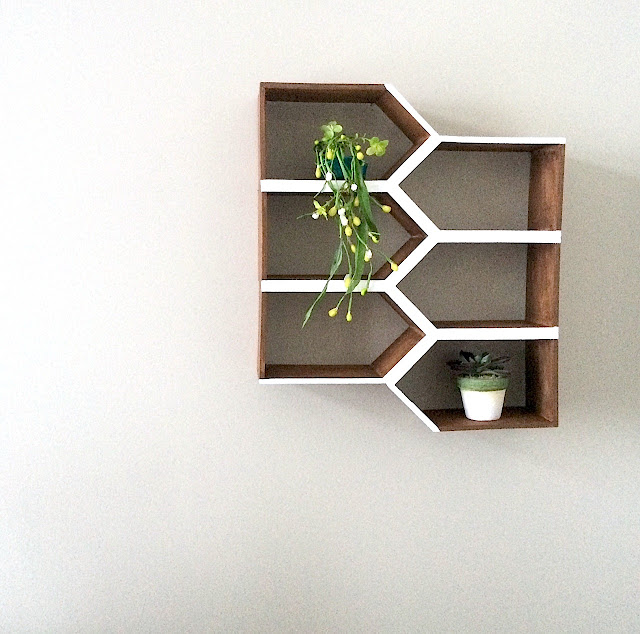 DIY Geometric Wall Shelf MinWax IDS17 Harlow & Thistle 1