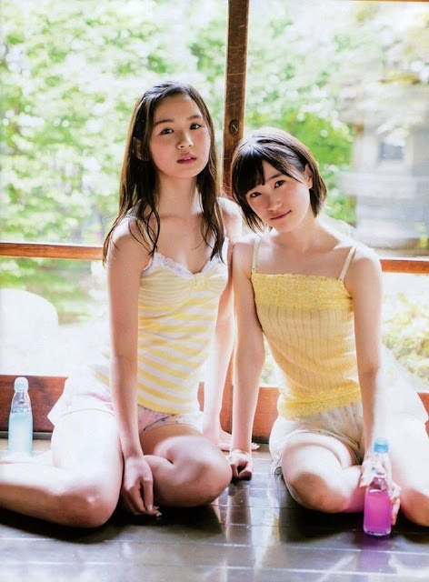HKT48 Misaki Aramaki and Erena Sakamoto Entame Gravure Photos 01
