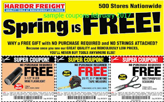 Harbor Freight coupons february 2017