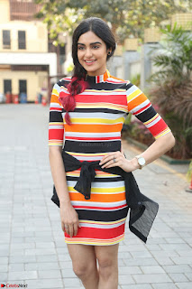Adha Sharma in a Cute Colorful Jumpsuit Styled By Manasi Aggarwal Promoting movie Commando 2 (71).JPG