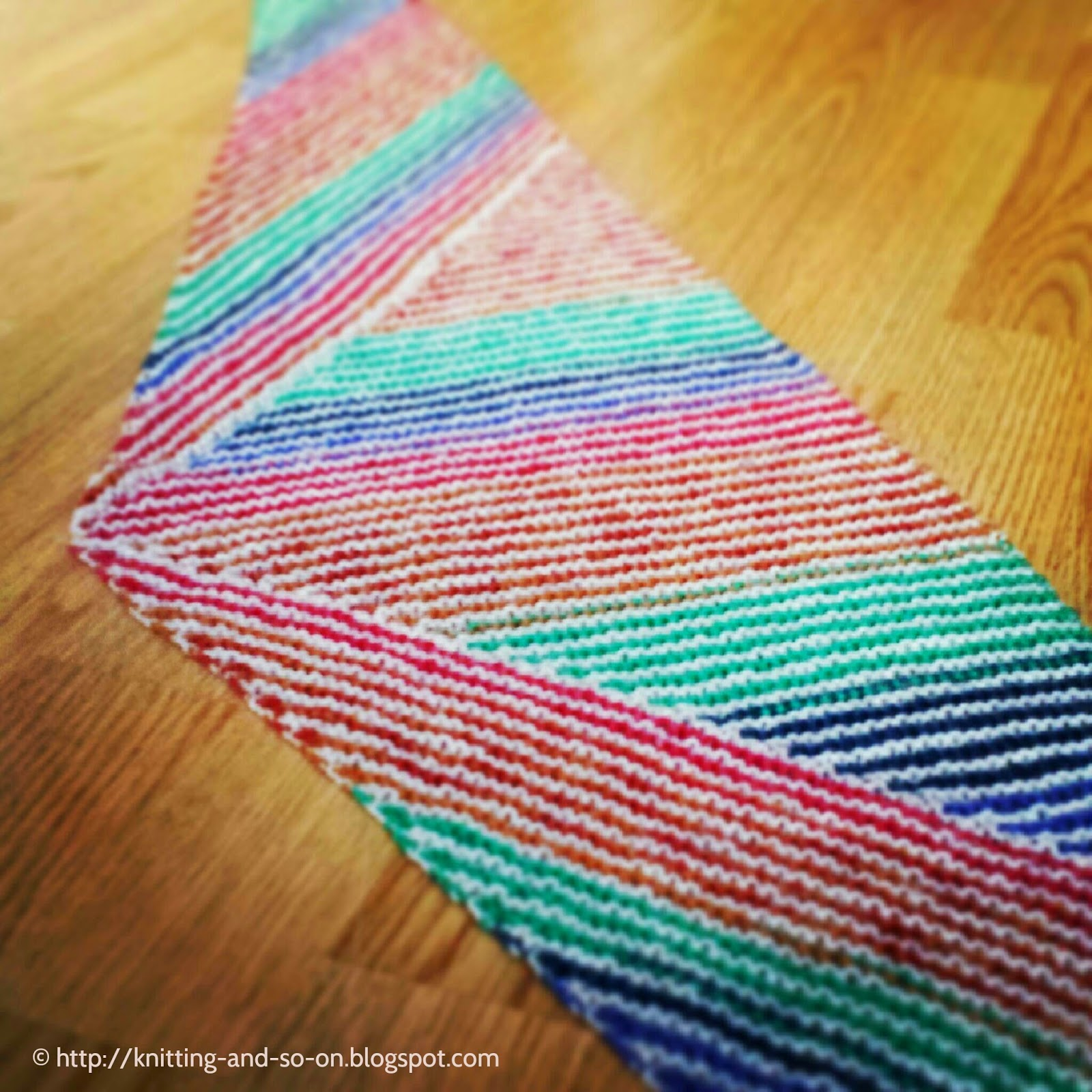 Free Knitting Pattern: Stripes, Stripes & Stripes Scarf