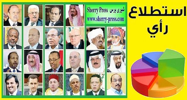 """شيرى بريس تدشن """"إستطلاع رأى"""" شعبى لإختيار أفضل وأسوأ شخصية حاكم عربى"""