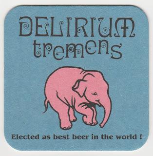 le sous-bock de la biére Delirium