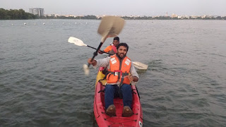 Kayaking-Hussain sagar