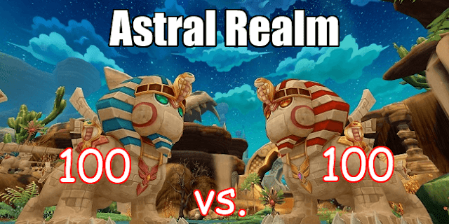 Astral Realm 100 vs. 100 PvP Arena Golden Desert