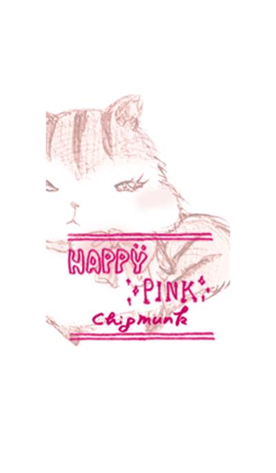 Happy pink chipmunk