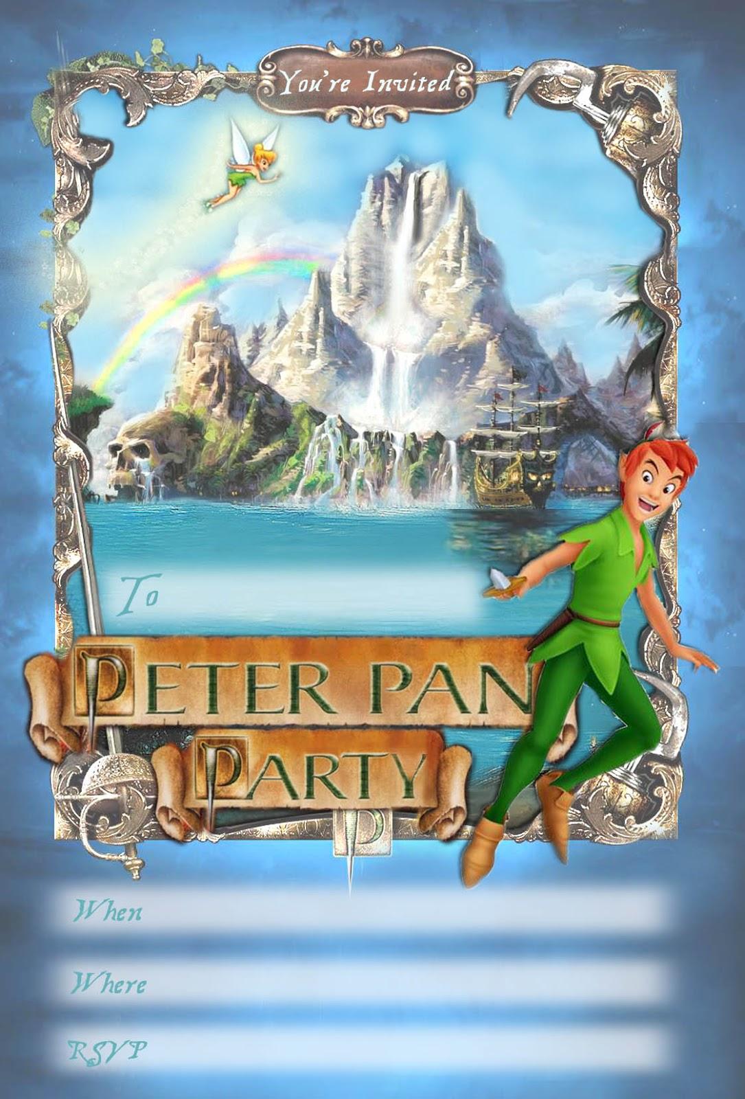Peter Pan Party Free Printable Invitation Disney