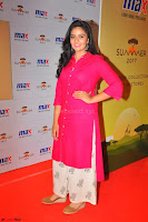 Sree Mukhi in Pink Kurti looks beautiful at Meet and Greet Session at Max Store (19).JPG
