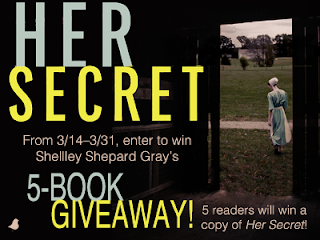 BookReview & ReadAnExcerpt Her Secret by Shelley Shepard Gray PLUS 5 Book Giveaway