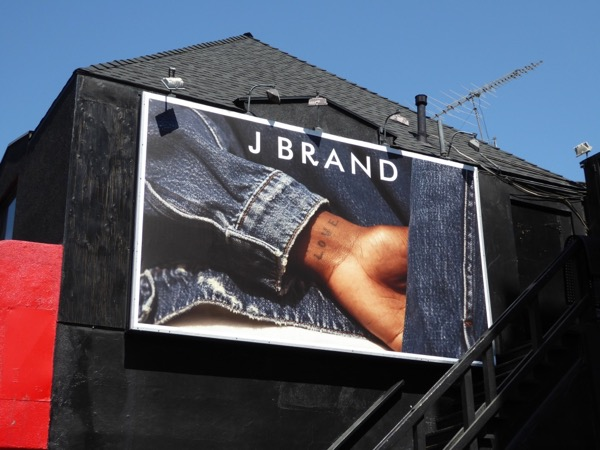 J Brand denim love tattoo billboard