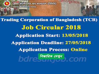 Trading Corporation of Bangladesh (TCB) Job Circular 2018