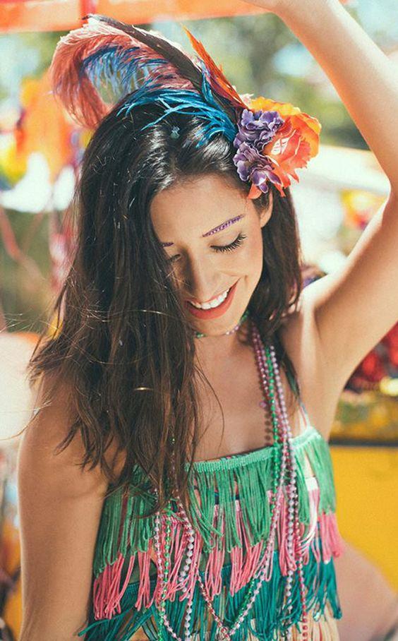 inspirações para o carnaval ~ penteados e acessórios