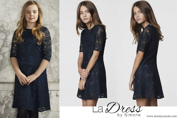 Princess Ariane wore La Dress Ellie Flared Lace Dress