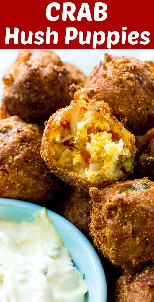 Crab Hush Puppies #APPETIZER