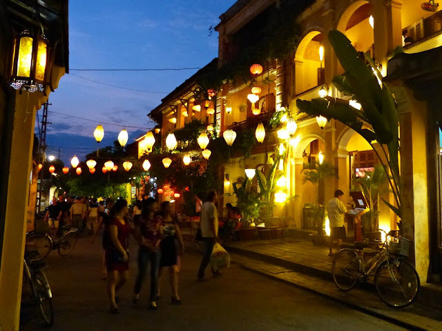 Streets of Hoi An in the evening