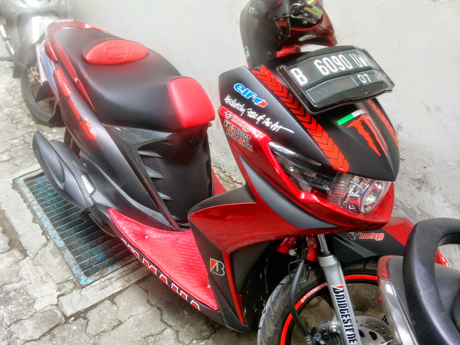 Aneka Modifikasi: Modifikasi Motor Mio Soul Gt Warna Putih