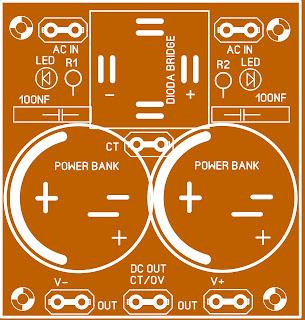 Rangkaian Power Supply Untuk Power Lapangan dan Indor