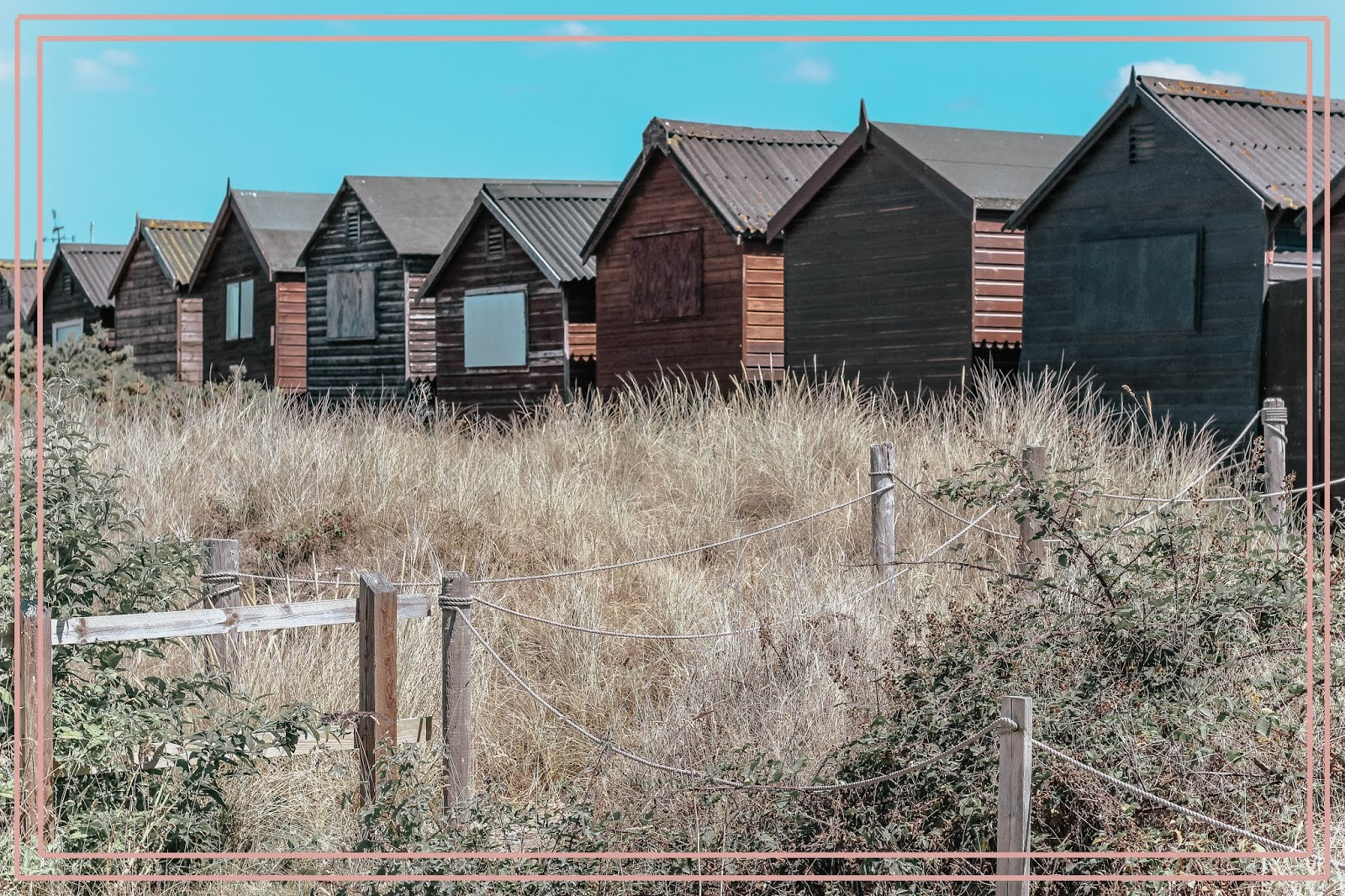UK British Beach Huts in South England