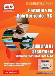 Apostila Prefeitura de Belo Horizonte - Auxiliar de Secretaria