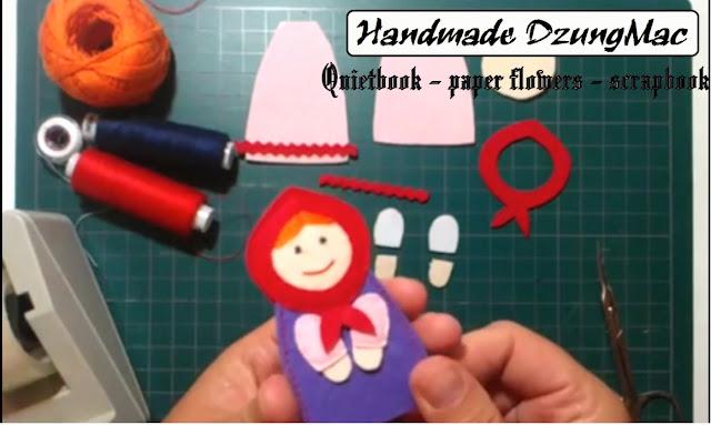 Hướng dẫn làm sách vải cho bé - cô bé quàng khăn đỏ