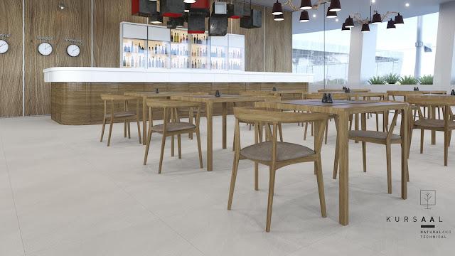 Outside floor tiles design Kursaal series for light commercial areas